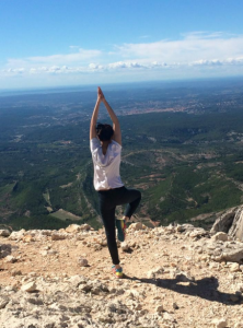 Me doing Yoga on top of the mountain