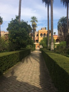 The alcazar in Sevilla, where some of the scenes from Game of Thrones were filmed