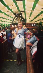 My traditional German dirndl in the Oktoberfest tent