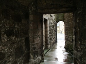 In the castle walls