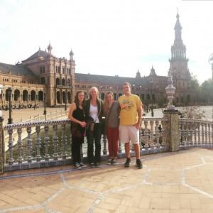 The beautiful Plaza de España