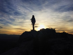 Me at sunset, Mountain Sainte Victoire. Taken November 29, 2015.