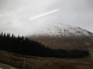 The view from the bus as we made our way into the highlands.
