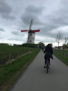 Though it threatened to rain, we ended up with good weather for our three hour long bike tour of the Belgian countryside.