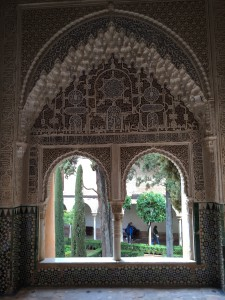I couldn't get enough of the detailing inside the Alhambra, like this window.