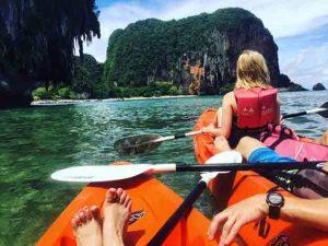 Kayaking from Railay