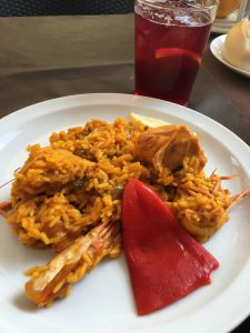 Eating lots of delicious food. I'm obsessed with Paella