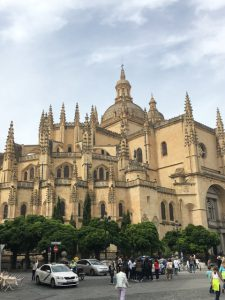 This is the outside of the Catedral de Segovia, and the inside was even more gorgeous. In the tourist book that I bought there, I saw a photo of it at night, and I wish I could have seen that!