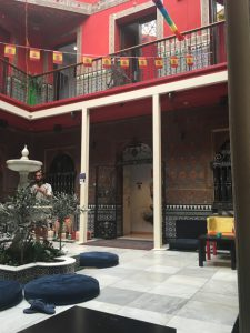 Here's a picture of the interior courtyard where a lot of the residents would spend time during the day.