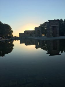 I didn't know Madrid could be this gorgeous; this is Templo de Debod at sunset.